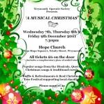 musical christmas poster